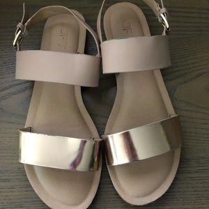 LOFT rose gold sandals
